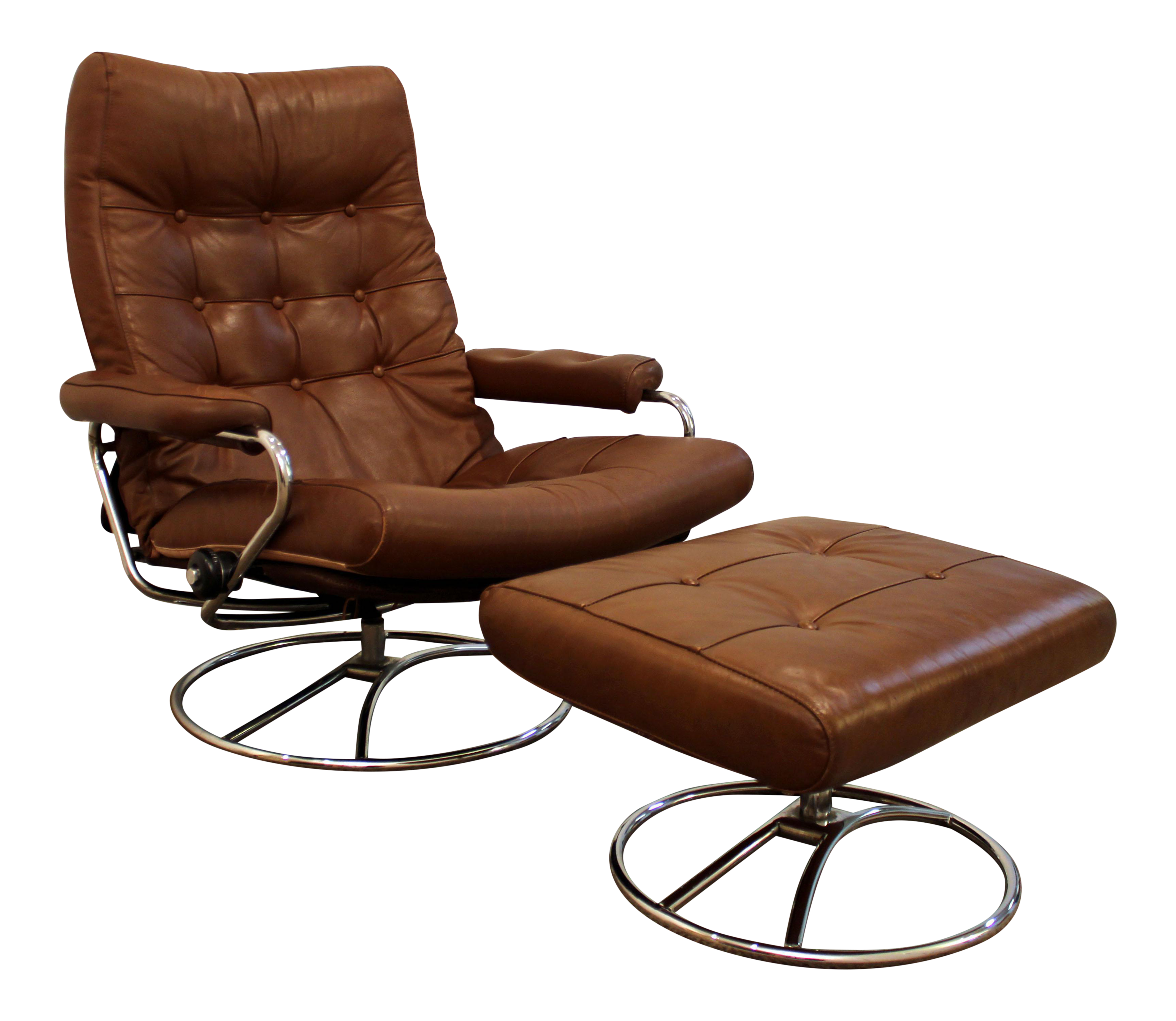 Lovely Mid Century Danish Modern Ekornes Stressless Recliner Lounge Chair U0026 Ottoman
