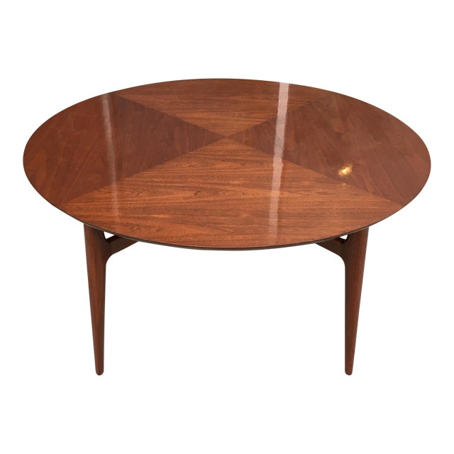 Mid-Century Matched Walnut and Mahogany Cocktail Table For Sale