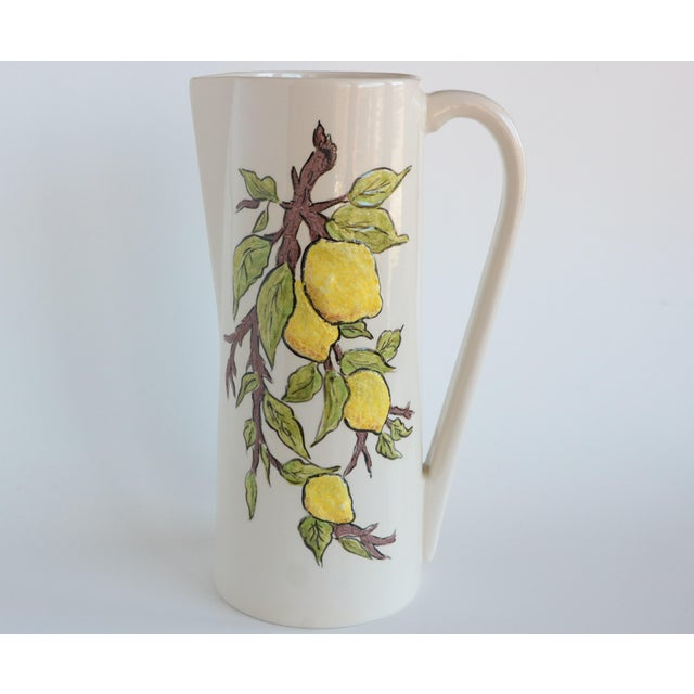 Cottage Lemon Branch Pitcher and Tumblers - Set of 6 For Sale - Image 3 of 11