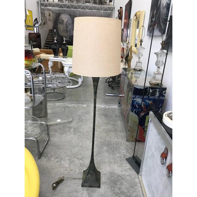 Green Stewart Ross James for Hansen Bronze Floor Lamp For Sale - Image 8 of 8
