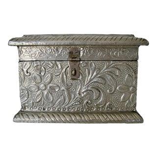 Vintage Embossed Keepsake Box