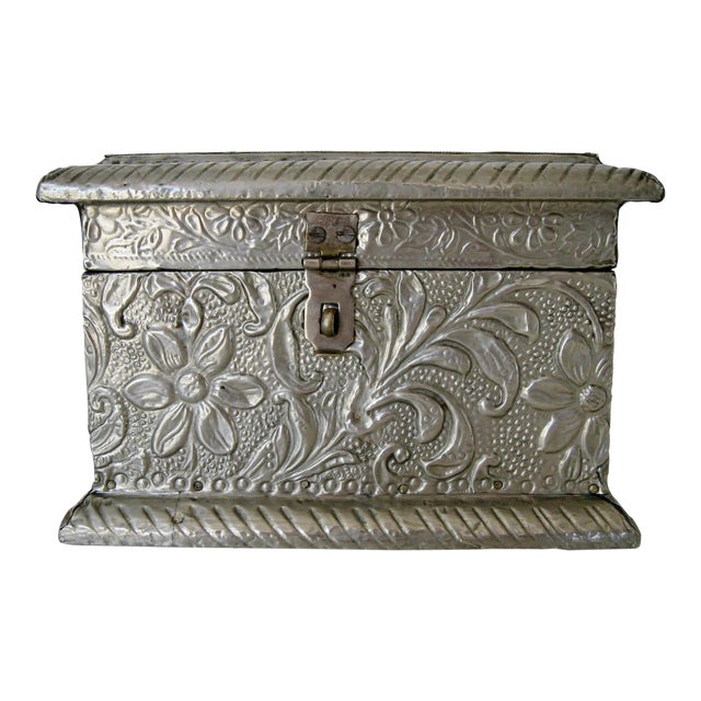 Vintage Embossed Keepsake Box - Image 1 of 8