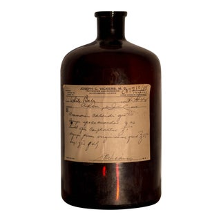 Antique 1940's Prescription Medicine Medical Bottle