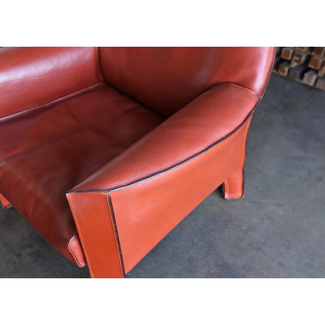 Mario Bellini for Cassina Large Cab Lounge Chairs - a Pair For Sale - Image 12 of 13