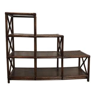 Rattan Stairstep Shelf