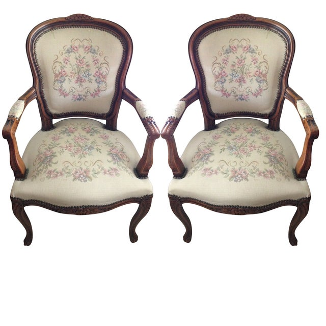 Vintage Chateaux d'Ax Italian Armchairs - Pair For Sale