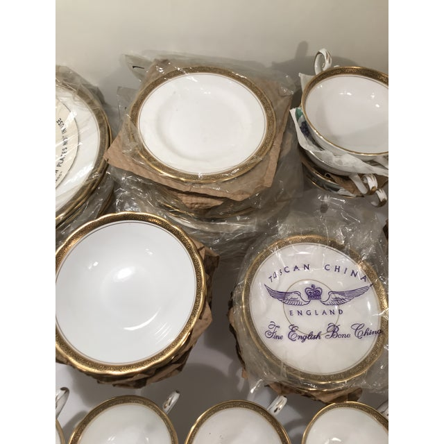 Royal Tuscan Fine Bone China 24k Gold Plated Trim and Black Trim Tableware For Sale - Image 4 of 7
