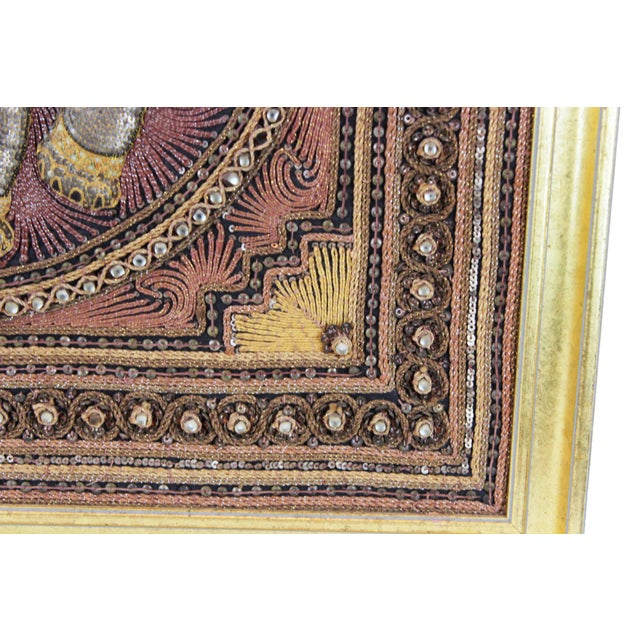 Pasargad DC Hand Made India Beaded Elephant Raised Wall Art - A Pair For Sale - Image 10 of 11