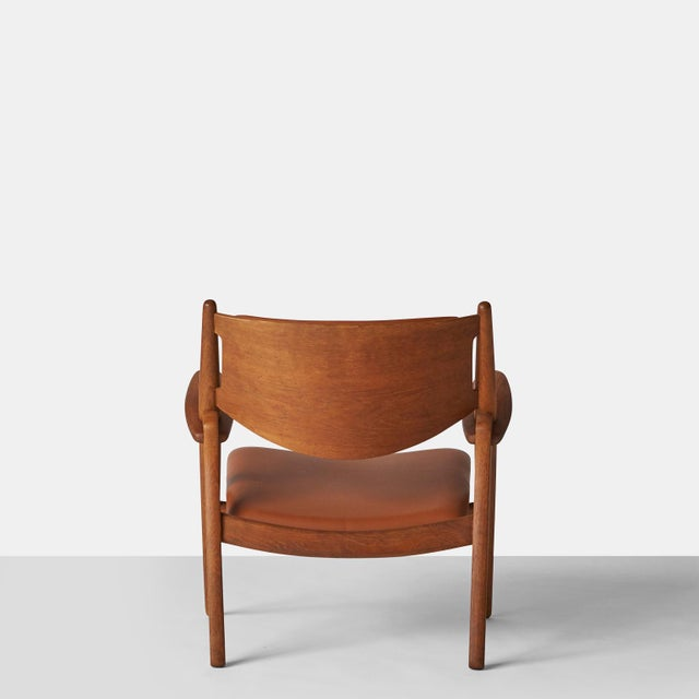 1950s Pair of Sawbuck Chairs, Model Ch-28 by Hans Wegner For Sale - Image 5 of 8