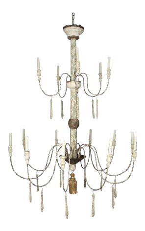 Two Tier Shabby Chic Chandelier