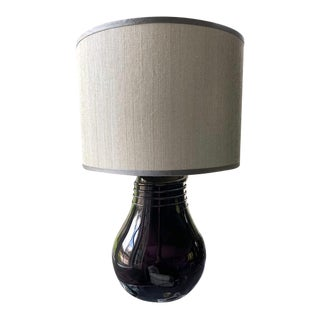 Custom Necklace Vase Table Lamp With Custom Shade For Sale
