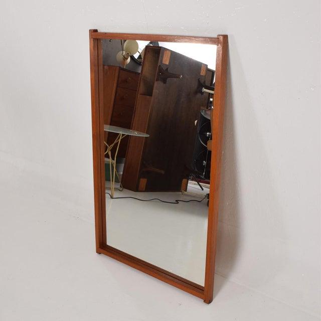 Mid-Century Modern Mid-Century Danish Modern Teak Mirror For Sale - Image 3 of 9