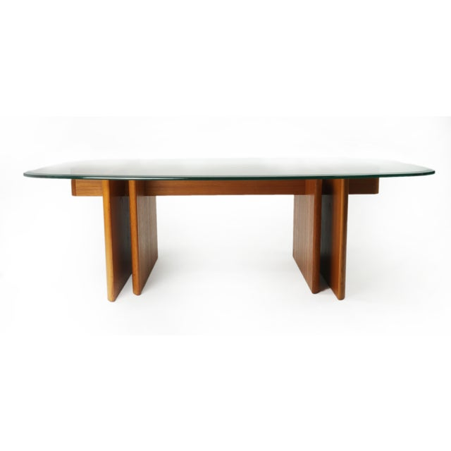 Aurelle Home Amanda Glass Top Rectangle Coffee Table: Gustav Gaarde For Trakanten Danish Modern Teak Coffee
