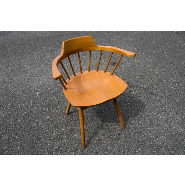 Mid-Century Modern Walnut Captain Chairs by George Nakashima- Set of 6 For Sale - Image 3 of 7