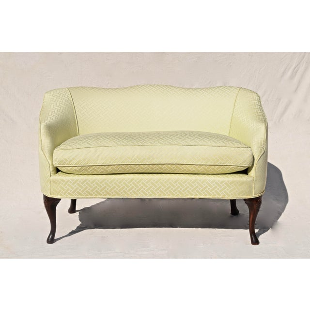 Curved Camel Back Demi Settee For Sale - Image 13 of 14
