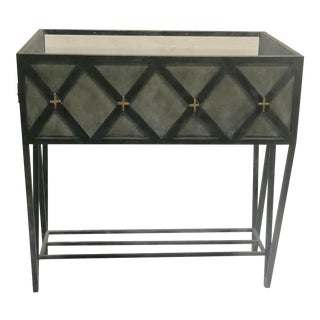 Transitional Handcrafted, Handpainted Iron Vanity For Sale