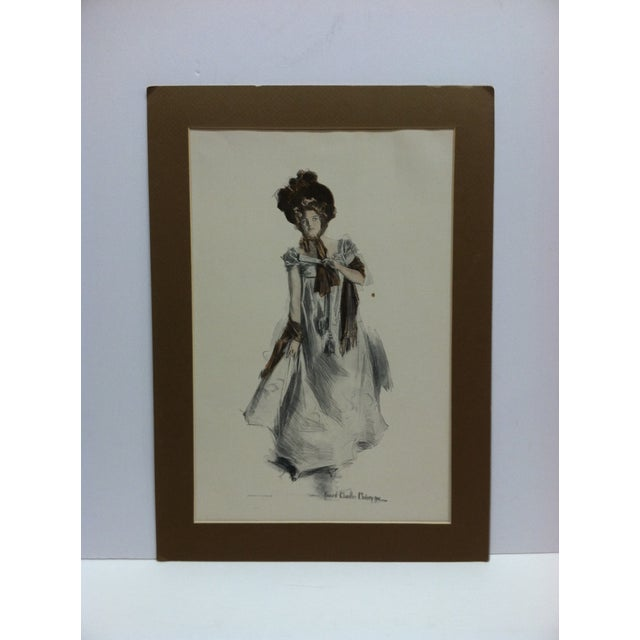 "Vintage Print . ""How Pleasant It Is to Have Money"" by Harrison Fisher For Sale In Pittsburgh - Image 6 of 6"