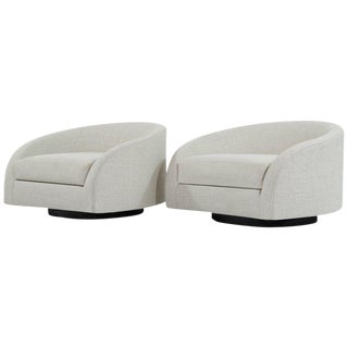 1950s Adrian Pearsall Swivel Cloud Lounges - a Pair For Sale