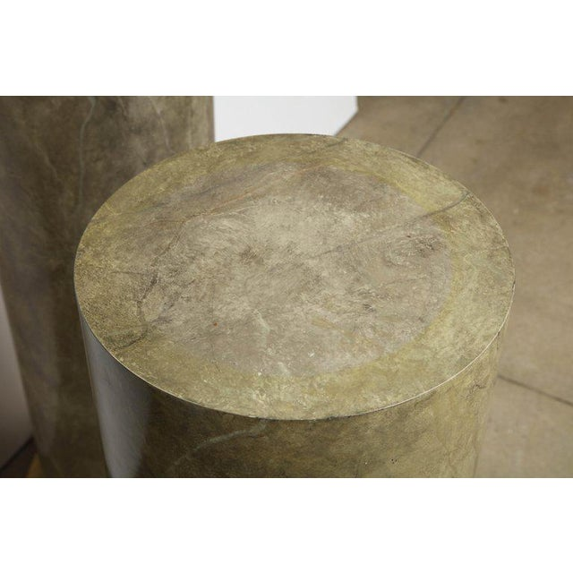 1980s 1980s Faux Marbleized Pedestals - a Pair For Sale - Image 5 of 8