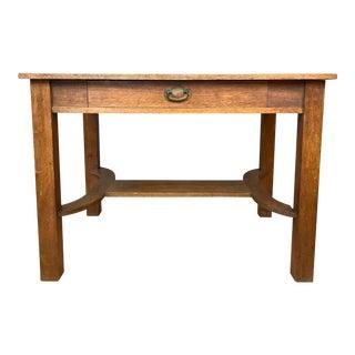 Arts & Crafts Expandable Oak Table