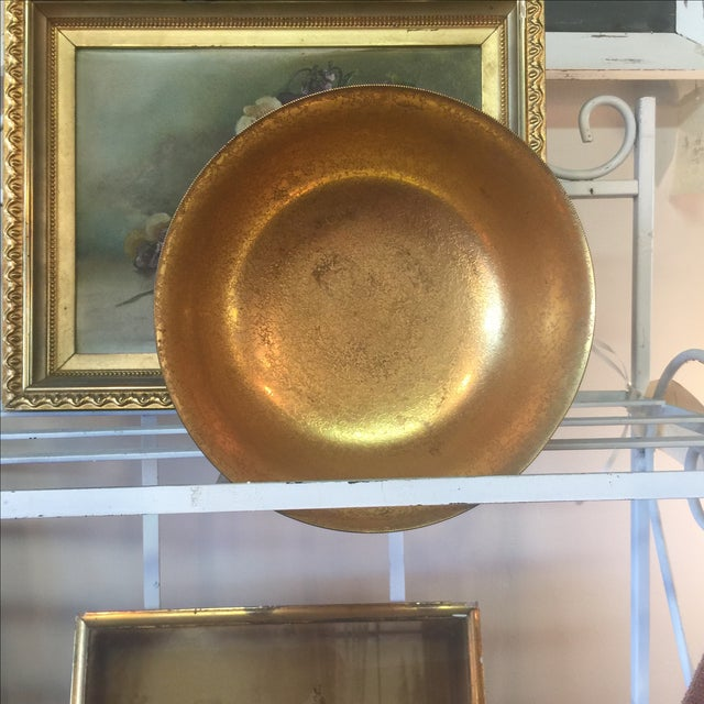 Tiffany Bronze Gold Guilt Bowl - Image 3 of 5