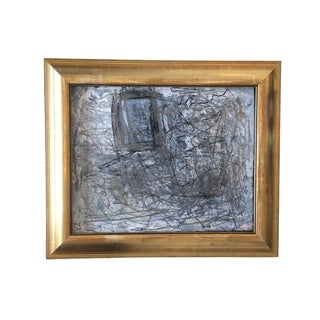 Abstract Expressionist Mixed Media on Paper by Marcus Sisler For Sale
