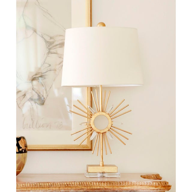 Metal Sun King Table Lamp For Sale - Image 7 of 7