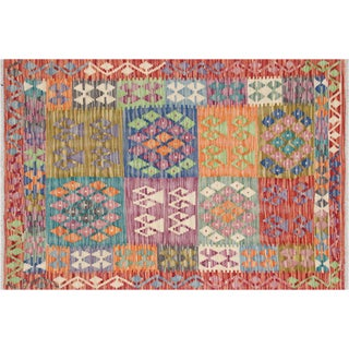 "Nalbandian - Contemporary Afghan Maimana Kilim - 3'5"" X 4'11"" For Sale"