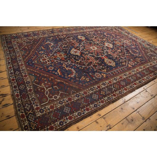 "Vintage Shiraz Carpet - 7'3"" X 10'2"" For Sale - Image 12 of 13"