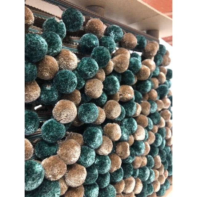Textile Pompom Tassel Fringe - 6.75 Yard Length For Sale - Image 7 of 7