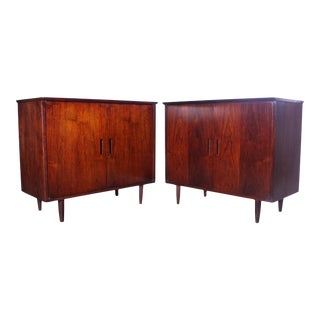 Intense Matching Pair of Arne Vodder Cabinets For Sale