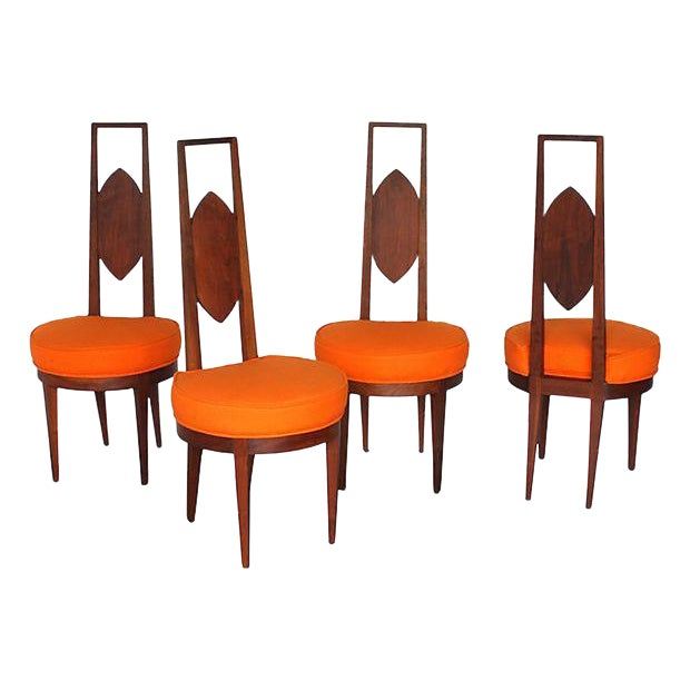 Mid-Century Modern Dining Chairs - Set of 4 - Image 1 of 5