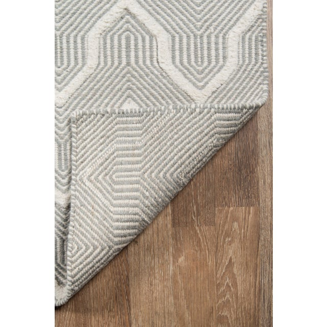 2010s Erin Gates by Momeni Langdon Prince Grey Hand Woven Wool Area Rug - 7′6″ × 9′6″ For Sale - Image 5 of 7