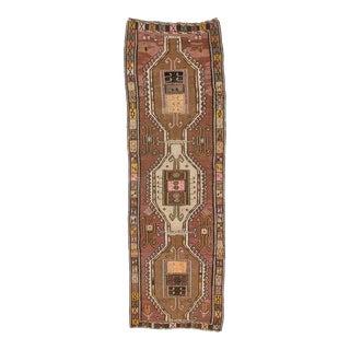 Handwoven Vintage Turkish Kars Kilim Rug For Sale