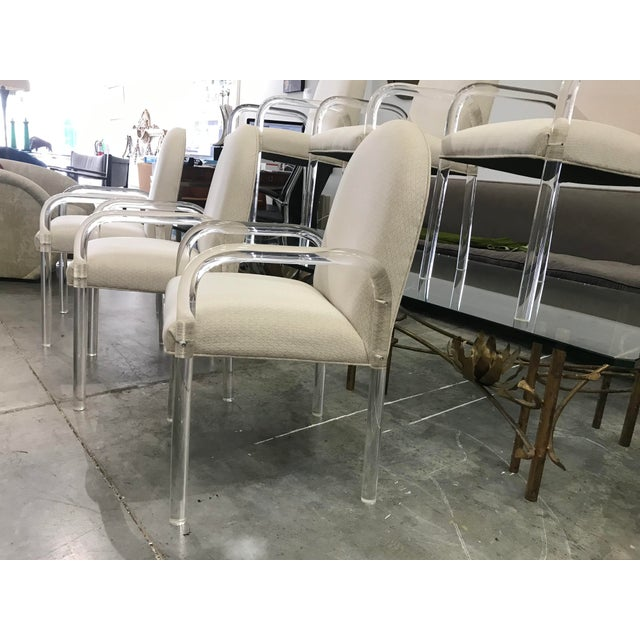 Mid-Century Modern 1970s Vintage Lucite Dining Chairs- Set of 6 For Sale - Image 3 of 10