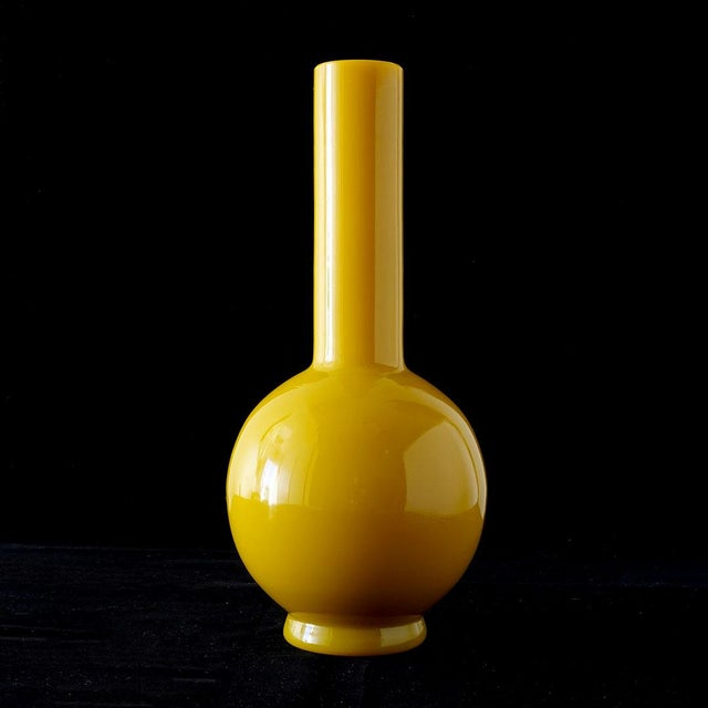 Early 20th Century Early Peking Glass Imperial Yellow Vase For Sale - Image 4 of 7
