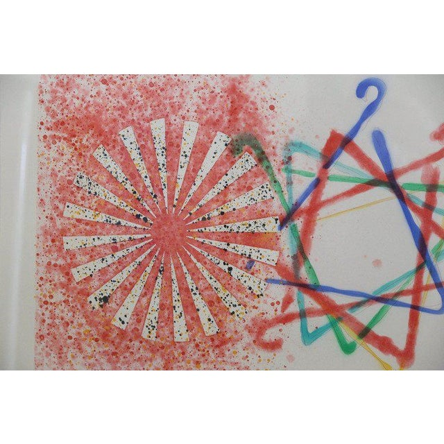 """Abstract Numbered 19 and Signed Print by Pop Artist James Rosenquist """"Number Wheel Dinner Triangle"""" - Image 6 of 6"""