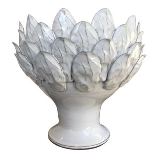 White Artichoke Bowl For Sale