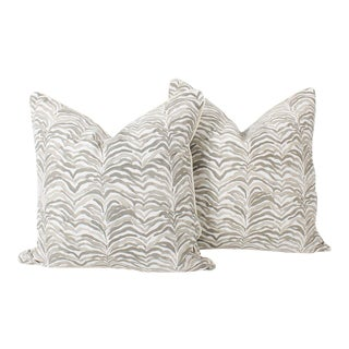 Tan Safari Tanzania Pillows, a Pair For Sale