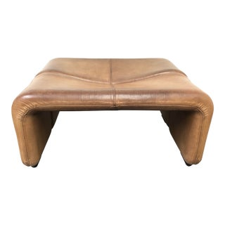 B&b Italia Coronado Alto Leather Ottoman For Sale