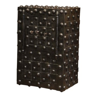 Mid-19th Century French Wrought Iron Hobnail Studded Safe by Magaud De Charf For Sale