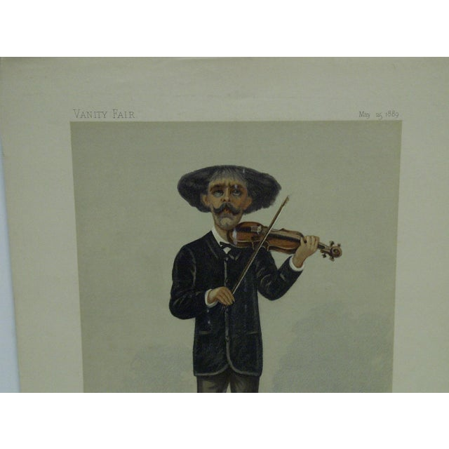 "Americana Vintage 1889 ""Sarasate"" Vanity Fair Print For Sale - Image 3 of 4"