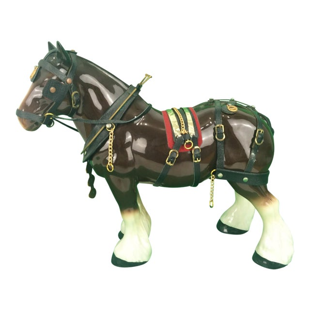 Brooks Brothers Porcelain Draught Horse Figure - Image 1 of 9