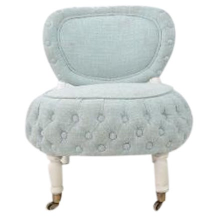 Victorian-Style Boudoir Chair - Image 1 of 4