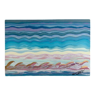 """Suga Lane """"Silver Tipped Waves"""" Painting For Sale"""
