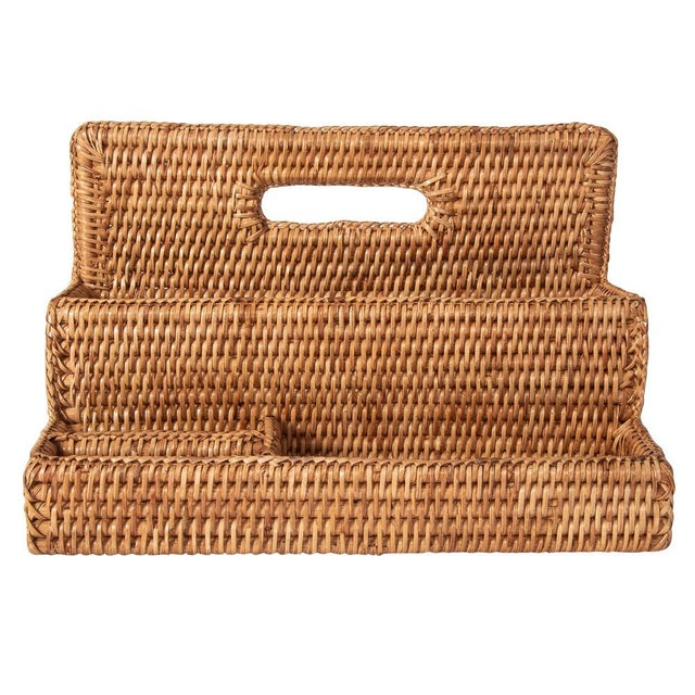 Artifacts Rattan Standing Stationary Sorter in Honey Brown For Sale - Image 11 of 11
