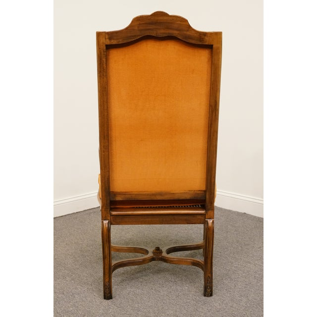 Wood Hekman Furniture Rustic Country Cane Seat Armchair For Sale - Image 7 of 10