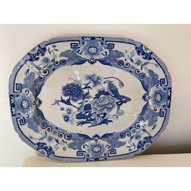 Antique Mason's Staffordshire Blue and White Platter For Sale - Image 9 of 9
