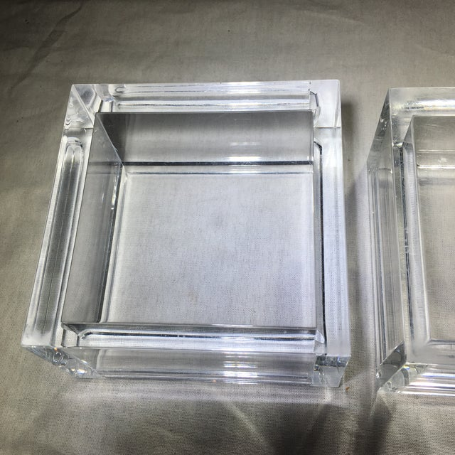 Vintage Lucite Cube Trinket Box - Image 6 of 6