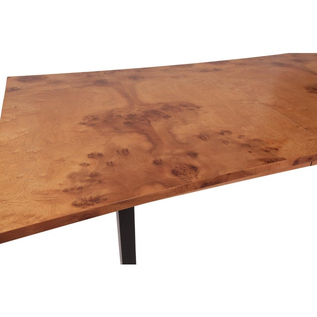 Phenomenal Figural Burl Wood Dining Table by Romweber - Image 6 of 6